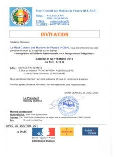 INVITATION FORUM-SEPT2013